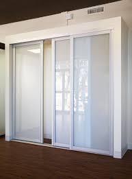 triple sliding glass closet doors