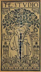 rare voysey art nouveau garden bookcover a rare art nouveau design for a book