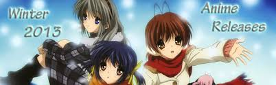 Winter 2012 2013 Anime Release Preview