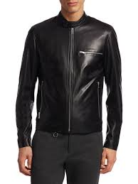 lyst theory tab collar leather moto jacket in black for men barneys vintage men s leather