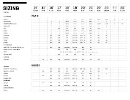 Backpack Volume Chart Size Charts For Osprey Backpacks