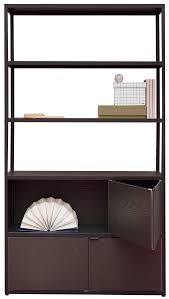furniture bookcases bookshelves new order bookcase by hay charcoal black stained