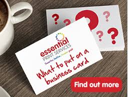 Business Card Printing In Derby Essential Print Services