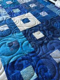 45 best Quilts - Hobbs Batting images on Pinterest | Hobbs, Free ... & The pantograph is Bubbles by Urban Elementz. Superior King Tut thread 928 -  Baby Blues and Hobbs 80/20 blend batting. Machine quilting by Kim Norton ... Adamdwight.com