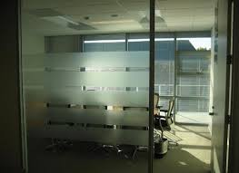 gallery office glass. frosted film adds privacy to offices stripes of frost give semi a glass walled office our gallery pinterest walls conference room