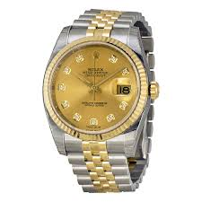rolex datejust champagne diamond dial jubilee bracelet two tone rolex datejust champagne diamond dial jubilee bracelet two tone men s watch 116233cdj