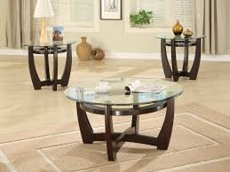impressive round wood and glass coffee table with round glass and wood coffee table