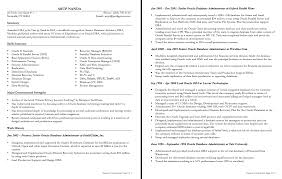 Resume Database Administrator Sample Freelance Nardellidesign Com