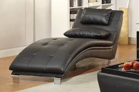 duvis black leather chaise lounge  stealasofa furniture outlet