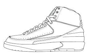Nike Air Jordan Coloring Pages Page Sneakers Pictures Also Grand 2