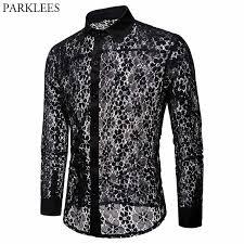 <b>Роскошная</b> кружевная Мужская рубашка с цветочной вышивкой ...