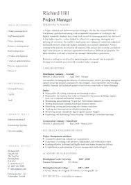 Construction Project Manager Job Description Sample Single Page