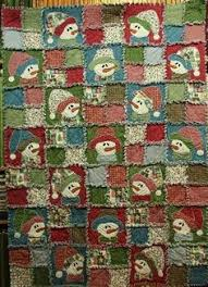 Snowman Rag Quilt, flannel | Quilted Christmas | Pinterest | Rag ... & X-mas rag quilt for the holidays Adamdwight.com