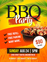 Barbecue Flyers Bbq Barbeque Party Flyer Template Postermywall