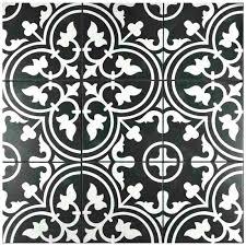 black and white vintage tile tiles mosaic floor