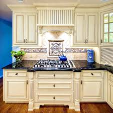 Black Appliances In Kitchen Cream Cabinets Idea Antique Ice ...