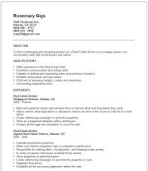Gallery Of Real Estate Broker Resume Example Free Templates