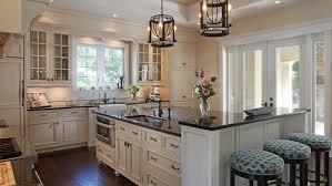 kitchen with uba tuba granite countertops
