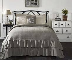 farmhouse quilt bedding. Wonderful Quilt Piper Classics Ruffled Chambray Reversible Twin Quilt 86u0026quot L X  68u0026quot W And Farmhouse Quilt Bedding M