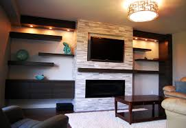 Living Room Shelves And Cabinets Engaging Design Ideas Using Rectangular White Wooden Shelves And