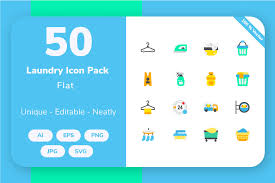 More than 400 vector icons, collected in 27 sets for download free svg icons and use them in your projects. Laundry Flat Graphic By Icon Stale Creative Fabrica