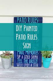 diy painted patio rules sign meet