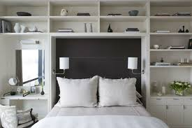 We love the idea of upholstering or painting the back wall as an expected  faux headboard, incorporating a murphy bed into a build-in bookcase or  adding ...