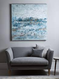 grey blue abstract wall art