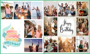Example Of A Collage Happy Birthday Collage Maker Download With 350 Templates