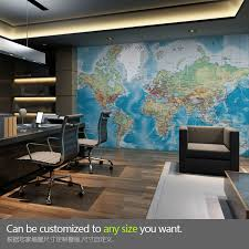 office world map. Free Shipping Large World Map Mural Wallpaper Personalized Custom Office Living Room Childrenu0027s Bedroom TV O