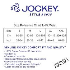 Jockey Vest Size Chart 2019
