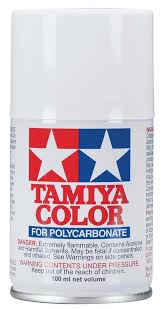 Tamiya Ps Paint Chart Tamiya Ps 1 Polycarbonate Spray White 3 Oz