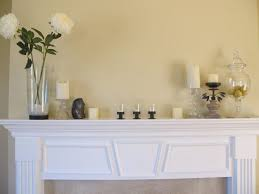 fireplace charming white fireplace mantel decorating ideas with glass flower vase and candle holder creative