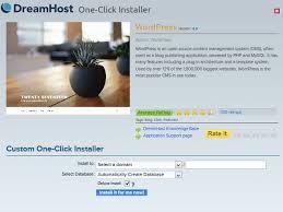 How do I install a One-Click Install? – DreamHost