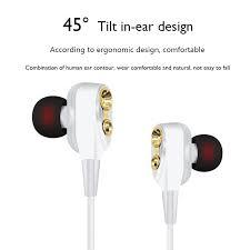 <b>Wired Earphone High</b> Bass Dual Drive Stereo <b>3.5mm</b> In Ear ...