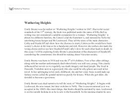 how to write an essay introduction about wuthering heights wuthering heights critical essays our single page application website ensures a supreme speed of all your operations much of this conflict results from