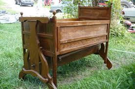antique victorian rocking baby crib wooden cradle just like mine