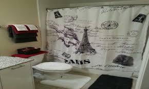 Paris Bathroom Decor Black And White Bathroom Rug
