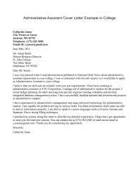 Administrative Position Cover Letter Sample For Resume Cv