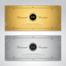 Coupon Format Template Gift Certificate Voucher Gift Card Or Cash Coupon Template