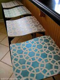 painting bar stools ideas. Exellent Ideas Stenciled Bar Stools  Awesome Chalk Paint Furniture Ideas For Painting E