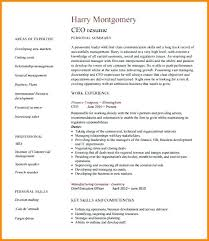 Best Ceo Cv Template Resume Examples Sample Chief Executive Officer