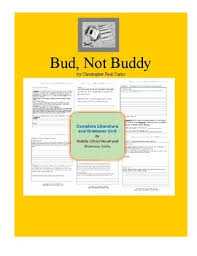 bud not buddy figurative language teaching resources teachers   bud not buddy complete literature and grammar unit