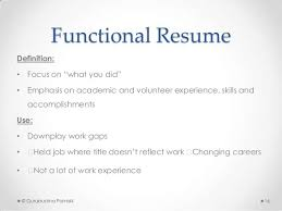 Definition Of Functional Resumes