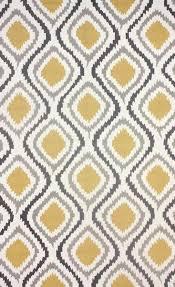 retro garden grey and yellow polyester area rug