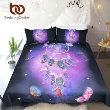 bedding set queen romantic purple duvet cover dreamlike erfly bed feathers bedclothes comforter sets super