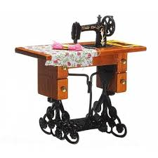 1 12 Vintage Miniature Sewing Machine Furniture Toy $5 15 line