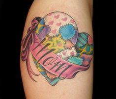 31 best Patchwork Rose Tattoo images on Pinterest | Heart tattoos ... & Love the quilt like heart, just without the mom banner. Adamdwight.com