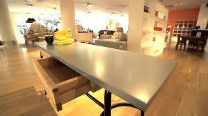 zinc dining room table. Habitat Yeoman Industrial Style Zinc Top Console Table \u0026 Dining - YouTube Room