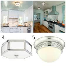 flush mount kitchen ceiling light fixtures round pressed glass